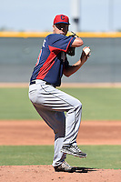Cleveland Indians pitcher Nick Maronde (48) during an Instructional League game against the Seattle Mariners on October 1, 2014 at Goodyear Training Complex in Goodyear, Arizona.  (Mike Janes/Four Seam Images)