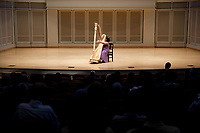 Renee Murphy performs during the Stars of Tomorrow Concert at the 11th USA International Harp Competition at Indiana University in Bloomington, Indiana on Thursday, July 11, 2019. (Photo by James Brosher)