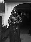 Niagara Falls New York:  Sarah Stewart wearing rain gear on the Maid of the Mist.