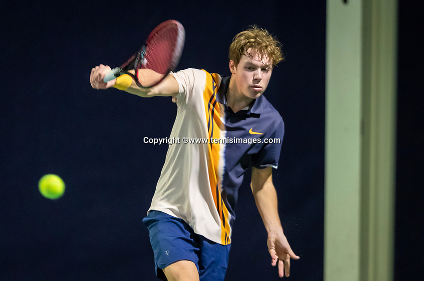 Hilversum, Netherlands, December 2, 2018, Winter Youth Circuit Masters, Miko Wasserman (NED)<br /> Photo: Tennisimages/Henk Koster