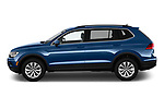 Car driver side profile view of a 2019 Volkswagen Tiguan SE 5 Door SUV