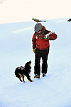 Crested Butte, Colorado ski patrolman Zach Springer and his avalanche rescue job, Emma.