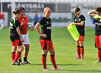Hungary - Hongarije : UEFA Women's Euro Qualifying group stage (Group 3) - 20/06/2012 - 17:00 - szombathely  - : Hungary ( Hongarije ) - BELGIUM ( Belgie) :.Janice Cayman.foto DAVID CATRY / JOKE VUYLSTEKE / Vrouwenteam.be.