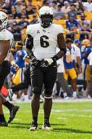 UCF defensive lineman Brendon Hayes. The Pitt Panthers defeated the UCF Knights 35-34 in a football game played at Heinz Field, Pittsburgh, Pennsylvania on September 21, 2019.