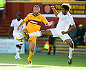 MOTHERWELL'S MICHAEL HIGDON  AND ABERDEEN'S YOUL MAWENE
