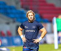 13th September 2020; AJ Bell Stadium, Salford, Lancashire, England; English Premiership Rugby, Sale Sharks versus Bath;  Faf de Klerk of Sale Sharks will be key to unlocking Bath in the upcoming game today