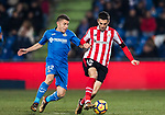 Markel Susaeta Laskurain of Athletic Club de Bilbao (R) fights for the ball with Francisco Portillo Soler of Getafe CF (L) during the La Liga 2017-18 match between Getafe CF and Athletic Club at Coliseum Alfonso Perez on 19 January 2018 in Madrid, Spain. Photo by Diego Gonzalez / Power Sport Images