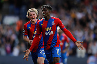 11th September 2021; Selhurst Park, Crystal Palace, London, England;  Premier League football, Crystal Palace versus Tottenham Hotspur: Wilfried Zaha of Crystal Palace celebrates after scoring his 1st goal from a penalty in the 76th minute to make it 1-0