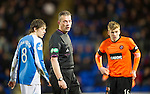 St Johnstone v Dundee United.....01.04.13      SPL.Ref Iain Brines.Picture by Graeme Hart..Copyright Perthshire Picture Agency.Tel: 01738 623350  Mobile: 07990 594431