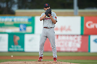 Johnson City Cardinals starting pitcher Jake Sommers (52) looks to his catcher for the sign against the Burlington Royals at Burlington Athletic Stadium on September 4, 2019 in Burlington, North Carolina. The Cardinals defeated the Royals 8-6 to win the 2019 Appalachian League Championship. (Brian Westerholt/Four Seam Images)