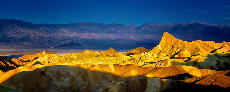 First light on Zabriske Point. Death Valley National Park, California