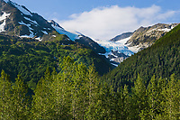 Hanging Glacier, Portage Valley, Chugach mountains, southcentral, Alaska.