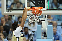 CHAPEL HILL, NC - JANUARY 4: James Banks III #1 of Georgia Tech dunks the ball during a game between Georgia Tech and North Carolina at Dean E. Smith Center on January 4, 2020 in Chapel Hill, North Carolina.