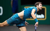 Rotterdam, The Netherlands, 2 march  2021, ABNAMRO World Tennis Tournament, Ahoy, First round match: Karen Khachanov (RUS).<br /> Photo: www.tennisimages.com/henkkoster