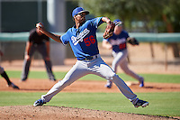 Los Angeles Dodgers pitcher Chris Powell (56) during an Instructional League game against the Chicago White Sox on October 15, 2016 at the Camelback Ranch Complex in Glendale, Arizona.  (Mike Janes/Four Seam Images)