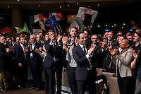 Vincent Peillon, Arnaud Montebourg, Valerie Donzelli, Benoit Hamon, Christiane Taubira investiture de BenoÓt Hamon a la presidentielle du Parti Socialiste (PS) a la mutualitÈ de Paris, le dimanche 5 fÈvrier 2017