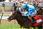 Get Stormy, trained by Thomas Bush, wins the 25th running of the Woodford Reserve Turf Classic under jockey Ramon Dominguez at Churchill Downs in Louisville, Kentucky on May 7, 2011.
