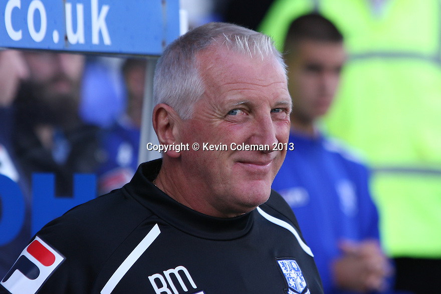 Tranmere manager Ronnie Moore<br />  - Tranmere Rovers v Stevenage - Sky Bet League One - Prenton Park, Birkenhead - 7th September 2013. <br /> © Kevin Coleman 2013