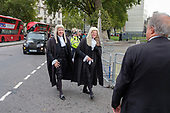 Judges arrive at Westminster Abbey, London, for a service marking the beginning of the legal year.