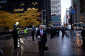 """New York, New York<br /> November 15, 2011<br /> <br /> After the police clear Zuccotti Park many of the evicted """"Occupy Wall Street"""" protesters, reconvened in Foley Square. Pedestrian traffic in front of the park is clear to move for the first time in two months."""