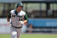 Fort Wayne TinCaps first baseman Brad Zunica (35) trots around the bases after hitting a home run against the West Michigan Michigan Whitecaps during the Midwest League baseball game on April 26, 2017 at Fifth Third Ballpark in Comstock Park, Michigan. West Michigan defeated Fort Wayne 8-2. (Andrew Woolley/Four Seam Images)