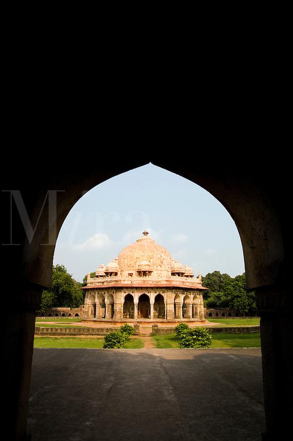 Isa Khan Tomb burial sites, New Delhi, India