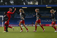 2nd May 2021; Kingsmeadow, London, England;  Bayern Munich  warm up during the UEFA Womens Champions League Semi Final game between Chelsea and Bayern Munich at Kingsmeadow