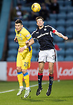 Dundee v St Johnstone….31.12.16     Dens Park    SPFL<br />Graham Cummins and Cameron Kerr<br />Picture by Graeme Hart.<br />Copyright Perthshire Picture Agency<br />Tel: 01738 623350  Mobile: 07990 594431