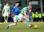 St Johnstone v Celtic…03.02.19…   McDiarmid Park    SPFL<br />Scott Brown is fouled by Sean Goss<br />Picture by Graeme Hart. <br />Copyright Perthshire Picture Agency<br />Tel: 01738 623350  Mobile: 07990 594431