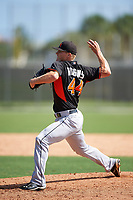 Miami Marlins Tyler Higgins (44) during a minor league Spring Training intrasquad game on March 31, 2016 at Roger Dean Sports Complex in Jupiter, Florida.  (Mike Janes/Four Seam Images)