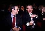 WALTER VELTRONI   CON MARTIN SCORSESE    PREMIERE AL CINEMA EUROPA   ROMA 1998
