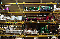 Pictured: The storage area. Thursday 16 November 2017<br /> Re: Festive company which manufactures tinsel in Cwmbran, Wales, UK.