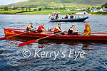 Valentia U16 Girls take Gold at the Sive Regatta in Cahersiveen on Saturday pictured l-r; Saoirse King, Alannah O'Shea, Leanne O'Connor, Fiona Murphy & Dermot Walsh(cox).  Portmagee finished 2nd with Cahersiveen in 3rd position.