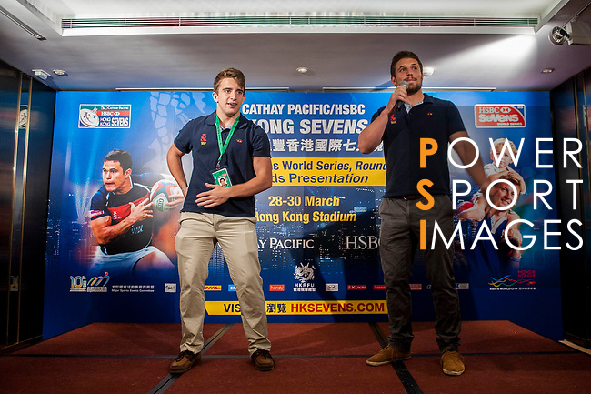 Celabration party at the end of the Cathay Pacific / HSBC Hong Kong Sevens at the Marco Polo Hotel on 30 March 2014 in Hong Kong, China. Photo by Xaume Olleros / Power Sport Images