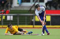 Auckland Blue v Taranaki (11th playoff). National Men's Under-18 Hockey Tournament finals day at Gallagher Hockey Centre in Hamilton, New Zealand on Saturday, 17 July 2021. Photo: Simon Watts / bwmedia.co.nz