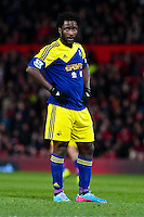Sunday 05 January 2014<br /> Pictured:Wilfried Bony<br /> <br /> Re: Manchester Utd FC v Swansea City FA cup third round match at Old Trafford, Manchester