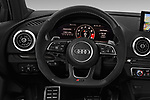 Car pictures of steering wheel view of a 2019 Audi RS-3 - 4 Door Sedan Steering Wheel