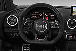 Steering wheel view of a 2019 Audi RS-3 - 4 Door Sedan