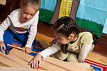preschool 3-4 year olds two girls playing together