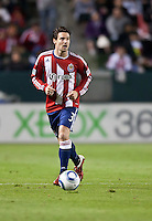 CARSON, CA – MARCH 26: Chivas USA defender Heath Pearce (3) during the match between Chivas USA and Colorado Rapids at the Home Depot Center, March 26, 2011 in Carson, California. Final score Chivas USA 0, Colorado Rapids 1.