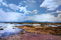 SC - Prov.  AYRSHIRE<br /> Coastline of Ardrossan on the Firth of Clyde near Kilbride. View over the Sound of Bute to the Isle of Arran<br /> <br /> Full size: 69,2 MB
