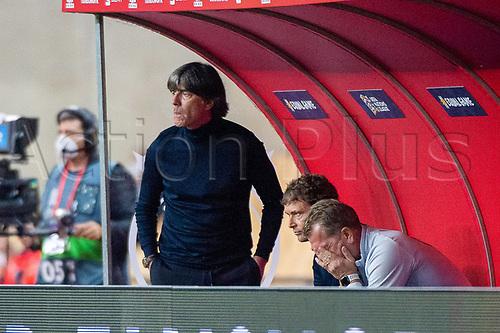 17th November 2020;  Estadio La Cartuja de Sevilla, Seville, Spain; UEFA Nations League Football, Spain versus Germany;  Joachim Loew, Bundestrainer (ger) looks on dejectedly