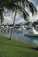 Bermuda, Smith's Parish, Boating in Flatt's Inlet in Smith's Parish in Flatts in Bermuda.