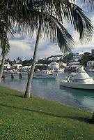 Bermuda, Smith's Parish, Boating in Flatt's Inlet in Smith's Parish in Flatts in Bermuda.