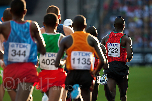 20 AUG 2009 - BERLIN, GER - Mens 5000m Qualifying Heat - World Athletics Championships (PHOTO (C) NIGEL FARROW)