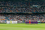 Tribute to the victims in the terrorist attack in Barcelona during Santiago Bernabeu Trophy. August 23,2017. (ALTERPHOTOS/Acero)