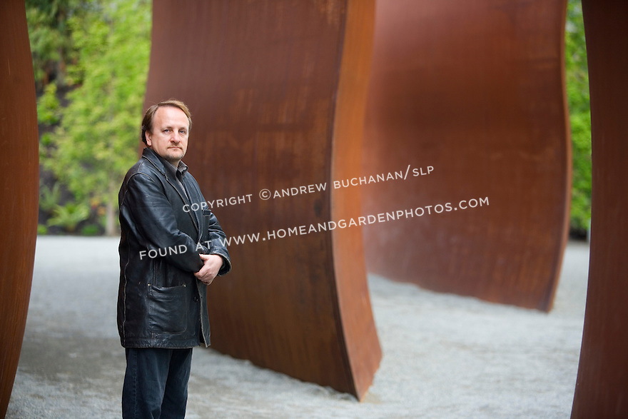 Landscape architect, Charles Anderson, of Charles Anderson Landscape Architecture, within the Seattle Art Museum's new outdoor Olympic Sculpture Park along the waterfront.