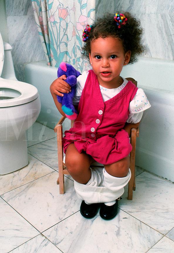 Girl toilet training