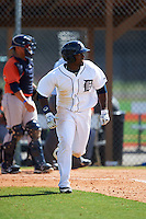 Detroit Tigers Christian Stewart (25) during a minor league Spring Training game against the Houston Astros on March 30, 2016 at Tigertown in Lakeland, Florida.  (Mike Janes/Four Seam Images)