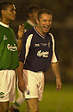 10/10/2002                   Copyright Pic : James Stewart.File Name : stewart-crunchie 08.MCCOIST SHARES A JOKE WITH THE FALKIRK FANS DURING CRUNCHIE'S TESTIMONIAL.Payments to :-.James Stewart Photo Agency, 19 Carronlea Drive, Falkirk. FK2 8DN      Vat Reg No. 607 6932 25.Office     : +44 (0)1324 570906     .Mobile  : +44 (0)7721 416997.Fax         :  +44 (0)1324 570906.E-mail  :  jim@jspa.co.uk.If you require further information then contact Jim Stewart on any of the numbers above.........
